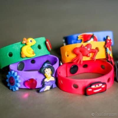 pulseras de goma eva con adornos para Crocs