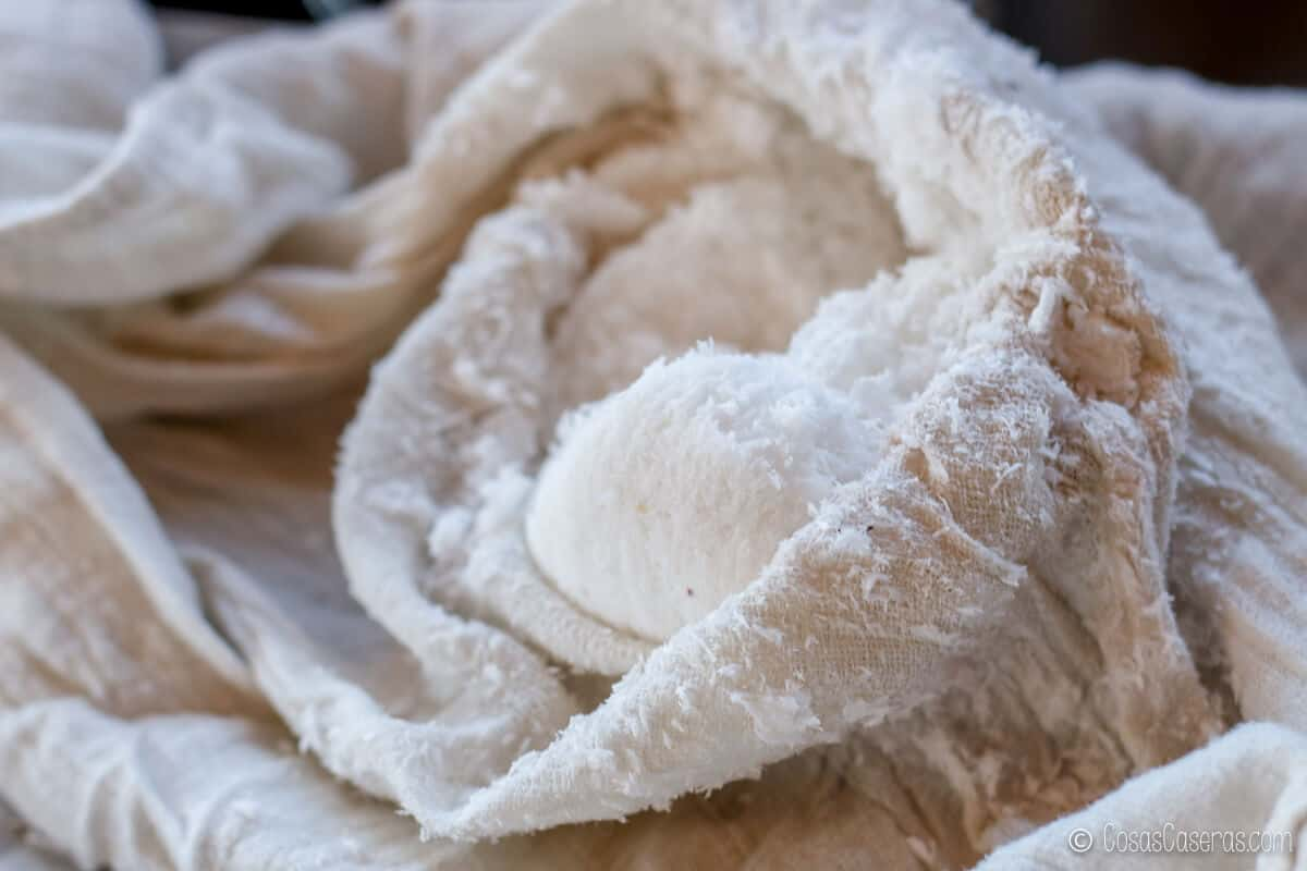 la fibra del coco que se queda en la tela