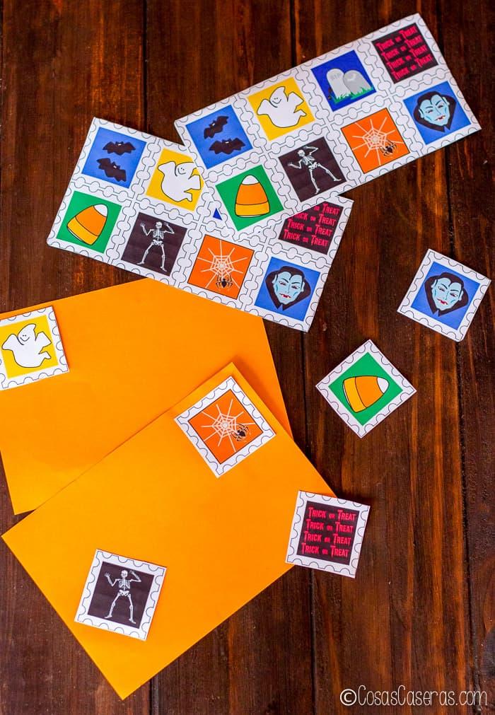 sellos postales para Halloween