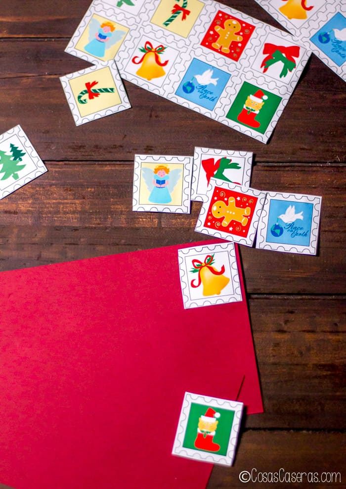 sellos postales para navidad