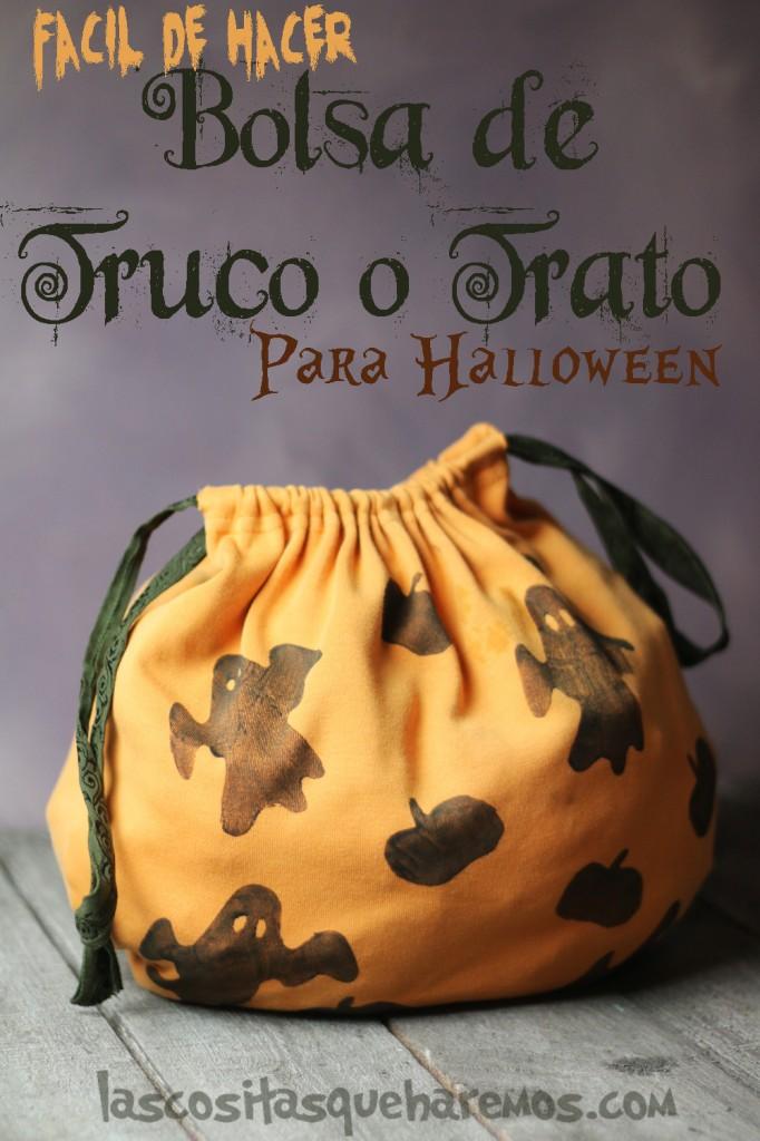 Hacer una Bolsa estampada para ir de truco o trato este Halloween.