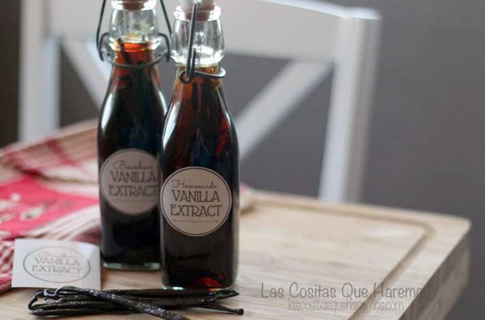 Cómo hacer extracto puro de vainilla casero con etiquetas imprimibles. Se puede ahorrar dinero y personalizarlo para conseguir el sabor que quieras.