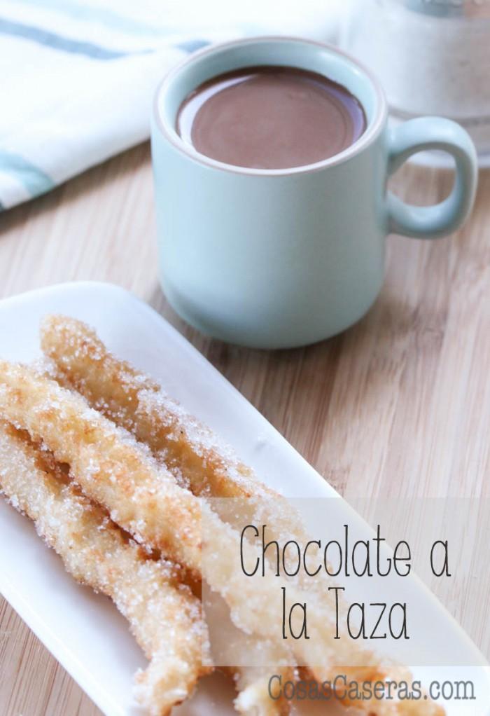 Chocolate a la taza es facil de hacer de manera casera con solo dos ingredientes.  Acompaña tus churros caseros con esta receta.