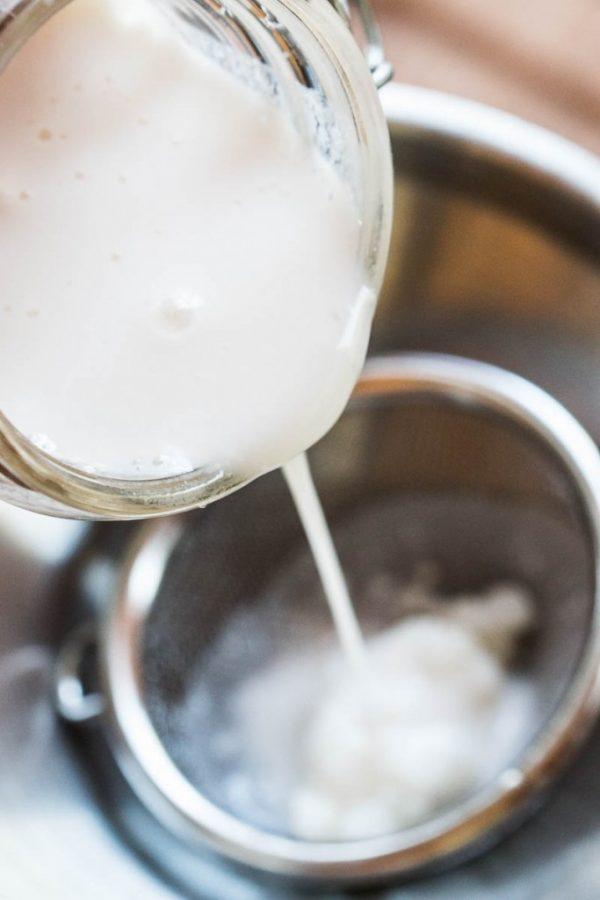 El kéfir es una bebida probiótica con más organismos beneficiosos que el yogur. Os enseño cómo hacer kéfir en casa; incluso se puede hacer con leche vegetal.