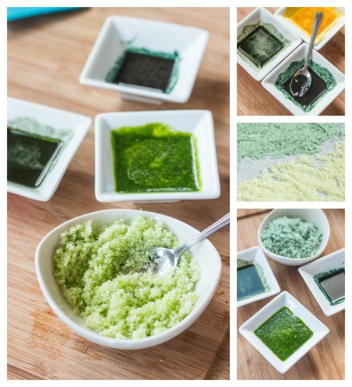 Se puede usar verduras y especias para hacer colorantes alimenticios naturales caseros. No son difíciles de hacer y les encanta a los niños.