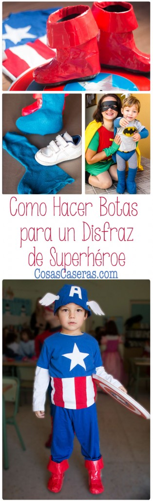 Para completar el disfraz de Capitán América, os enseño dos maneras fáciles de cómo hacer unas botas para un disfraz.