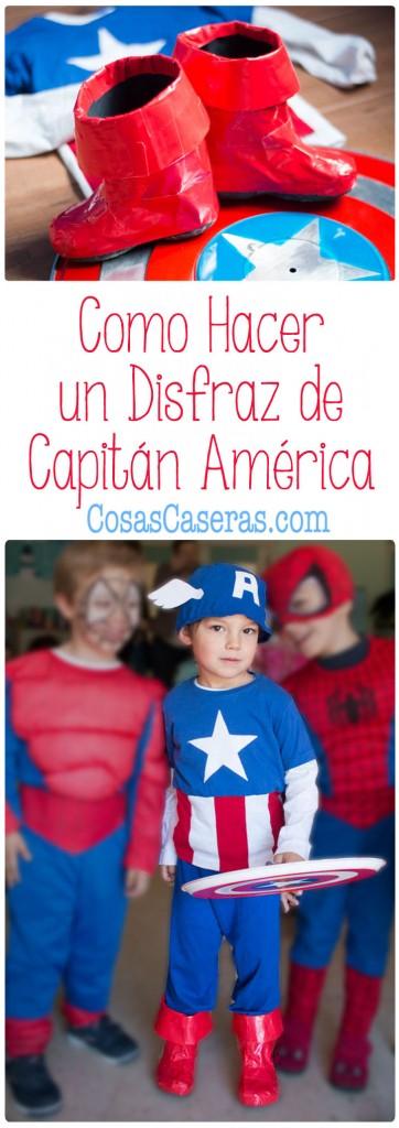 Alegra el día de tu superhéroe favorito con un disfraz de su superhéroe favorito. Os enseño cómo hacer un disfraz de Capitán América completo con escudo y botas.