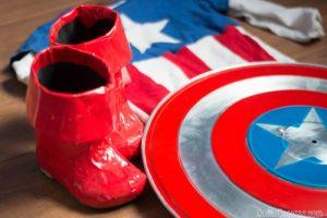 Hacer Escudos de Capitán América para un Disfraz