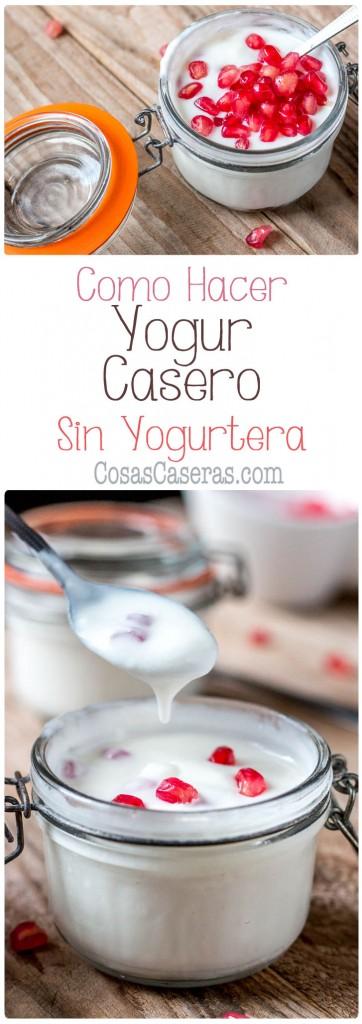 Es fácil hacer yogur en casa en grandes cantidades si usas el horno. Os enseño como hacer yogur casero sin yogurtera de manera muy sencilla.