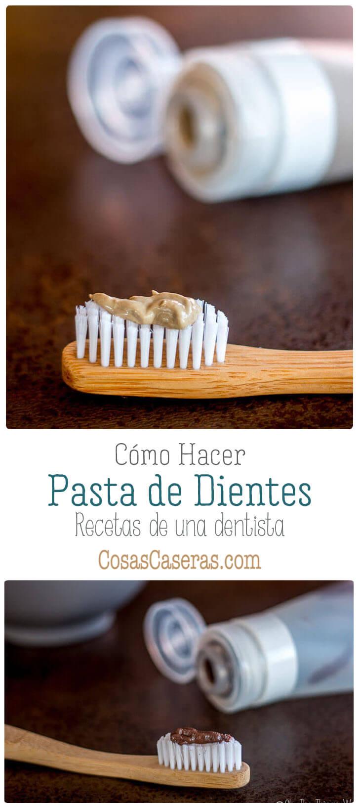 Pasta de dientes casera de chocolate y menta en un cepillo de dientes de bambú y con un tubo silicona llena de la pasta de dientes.