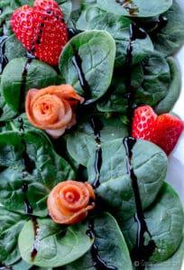 La ensalada de San Valentín aliñada con una reducción balsámica