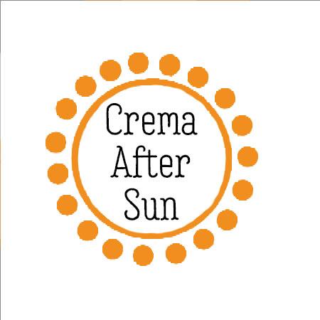 "etiqueta que pone ""crema after sun"""