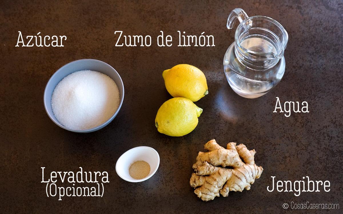 ingredientes para ginger beer casero